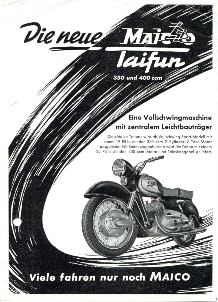 Maico Taifun 1955 2 Seiten DIN A54001 (2)